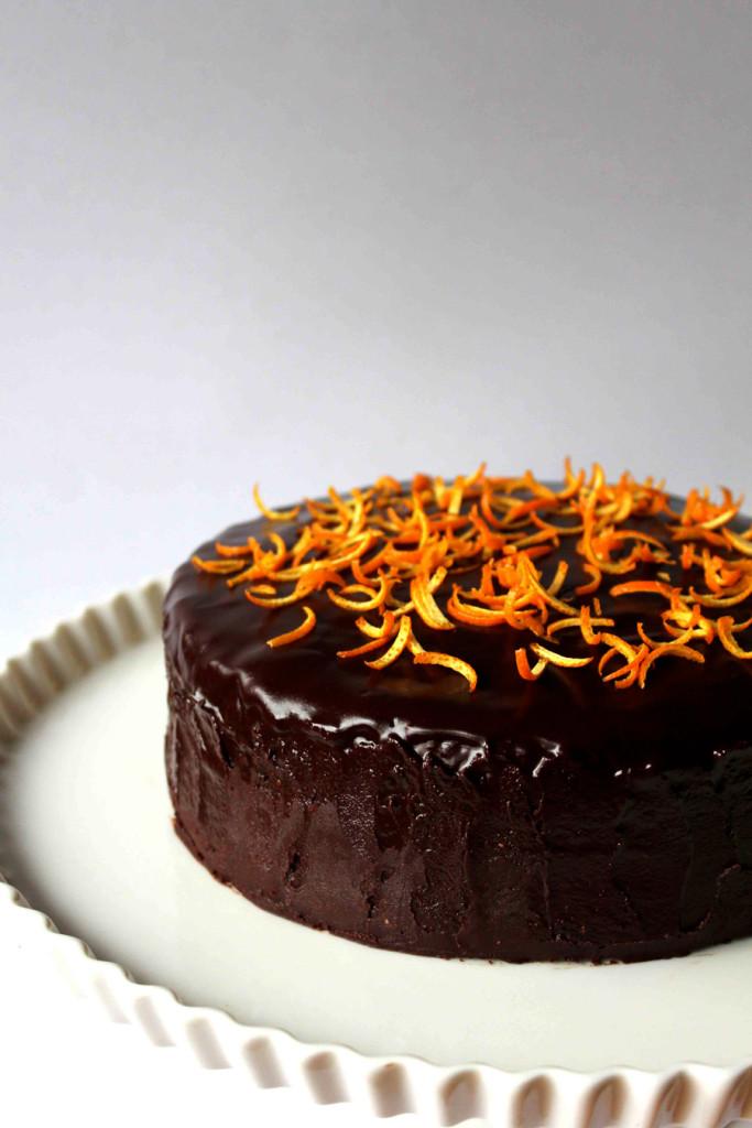 chocolate cake with orange marmalade