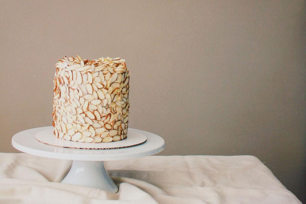 chocolate devil's food cake with espresso swiss meringue buttercream