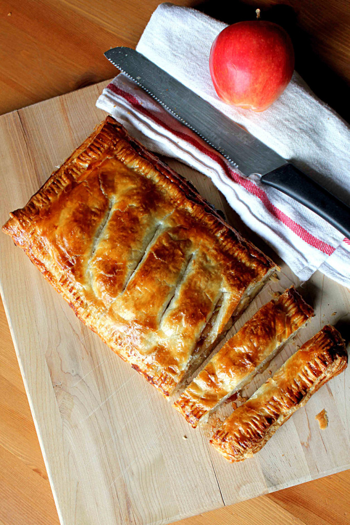 apple puff pastry pie