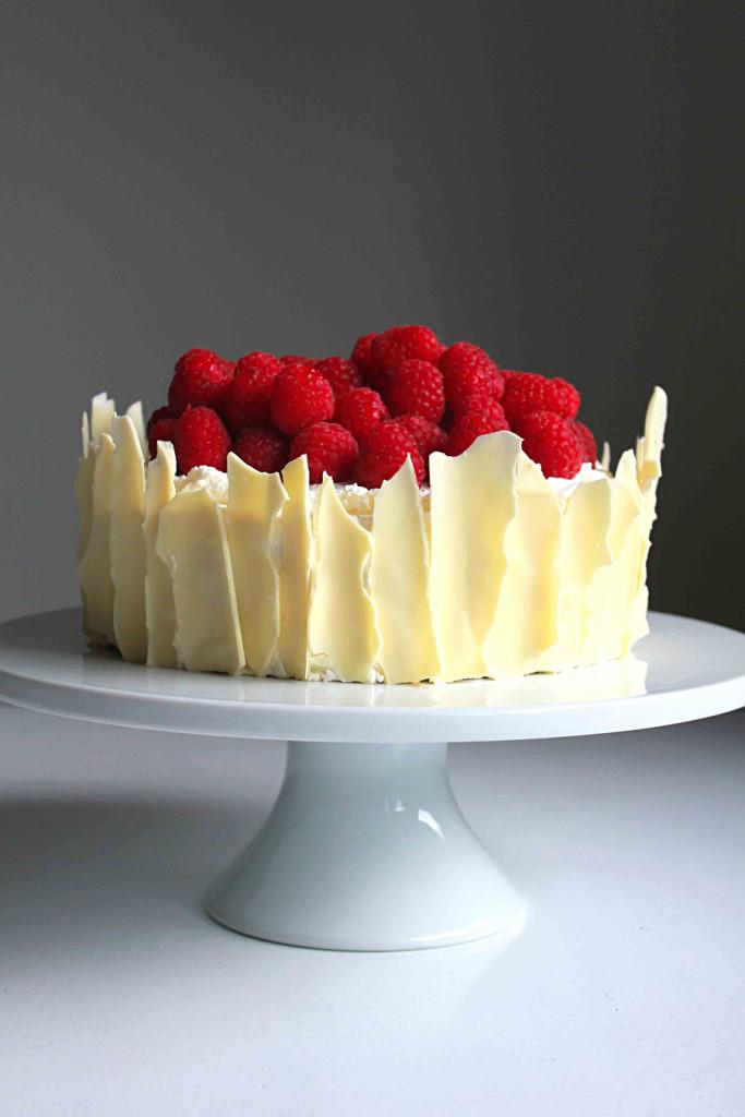 lemon raspberry sponge cake