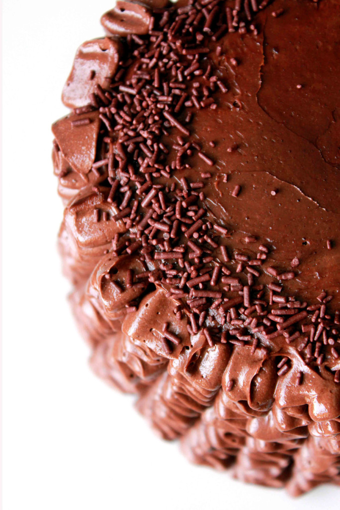 chocolate ruffle cake