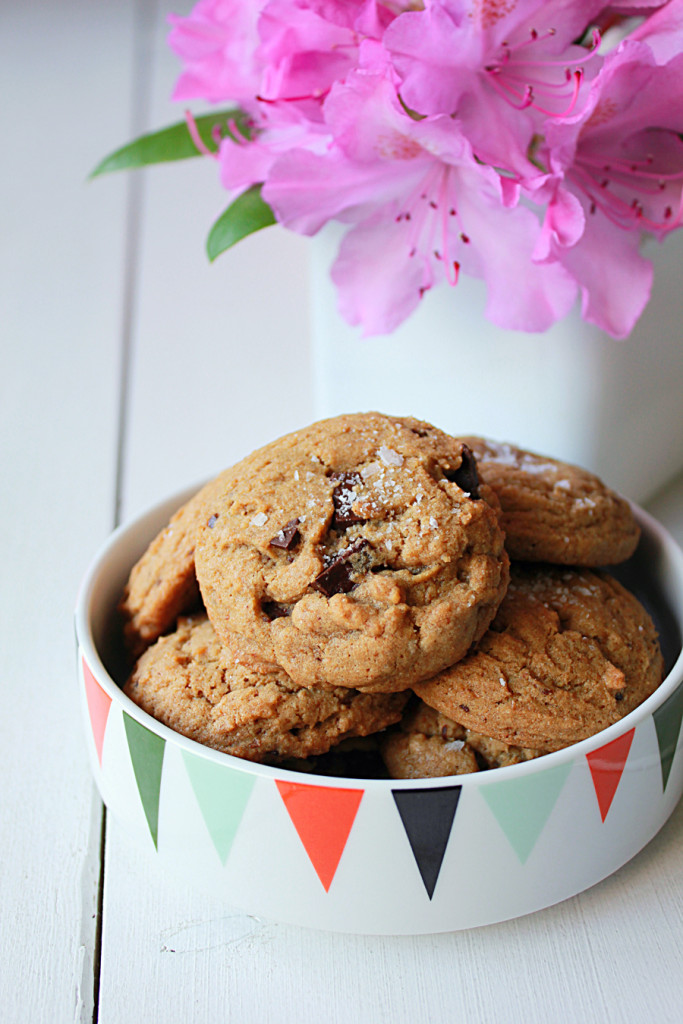 espresso salted chocolate chunk cookies