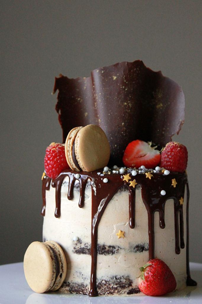 Sensational Espresso Chocolate Ganache Cake Oh Sweet Day Personalised Birthday Cards Vishlily Jamesorg
